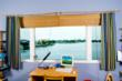 Simonton StormBreaker Plus impact-resistant window in Florida coastal home.